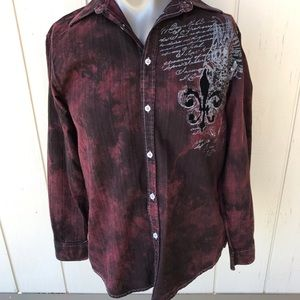 Eighty Eighty Graphic Button Down Long Sleeve